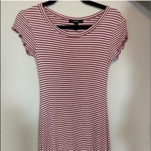 🎀Forever21 Pink & White Striped T-Shirt Dress🎀